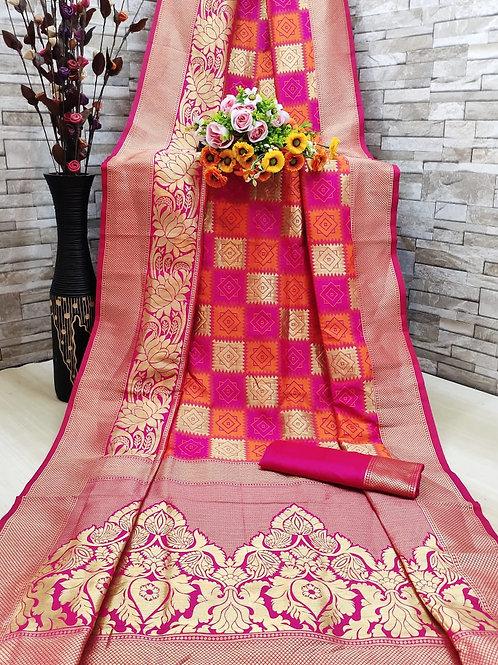 KFS Heavy Jari Weaving Silk Saree  03