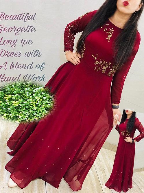 KFS Georgette Long Gown 02