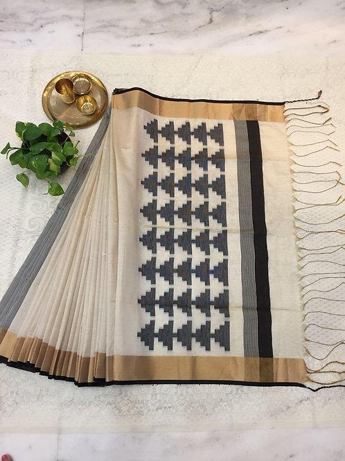 KFS Raw Khadi Cotton Saree 06
