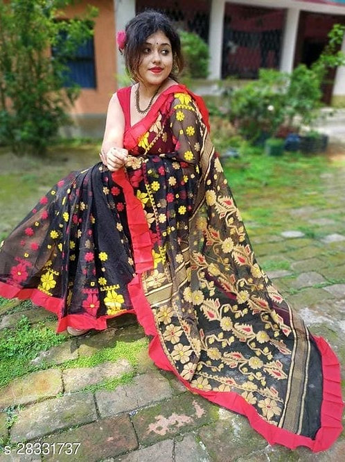 Jacquard Rafel Jamdani Saree