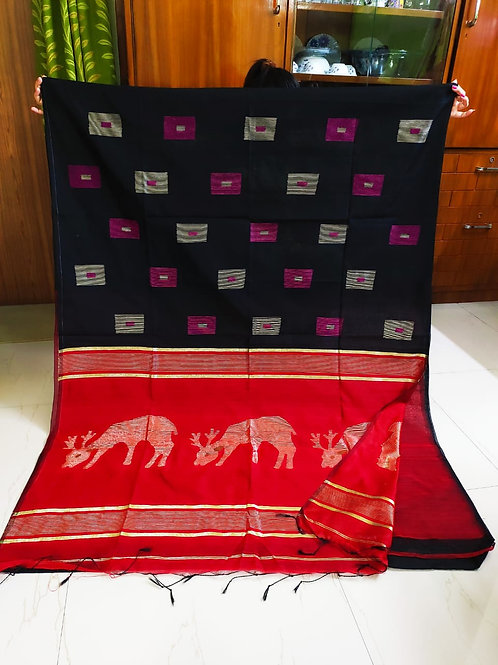 SMB Deer Handloom Saree 01