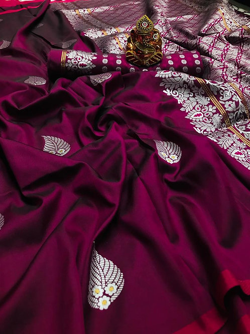 VRS ASO PAN Design Silk Saree 04