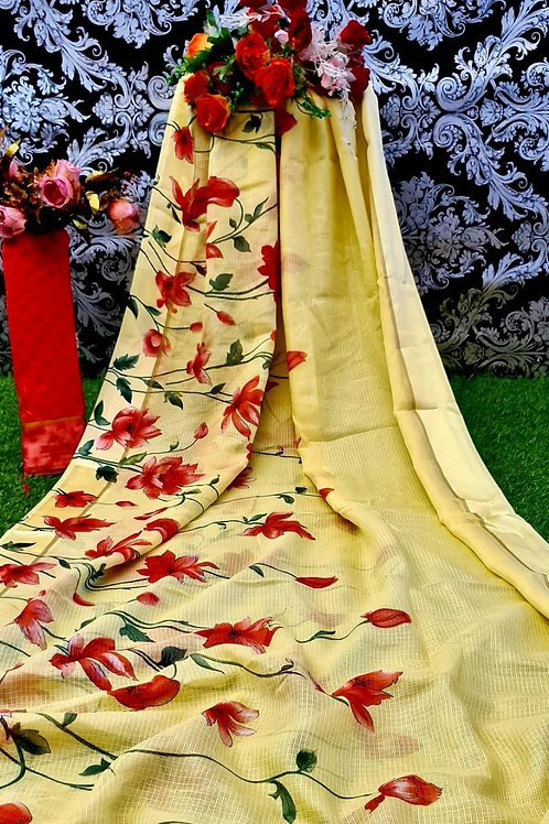 KFS PRINTED COTTON SAREE 04