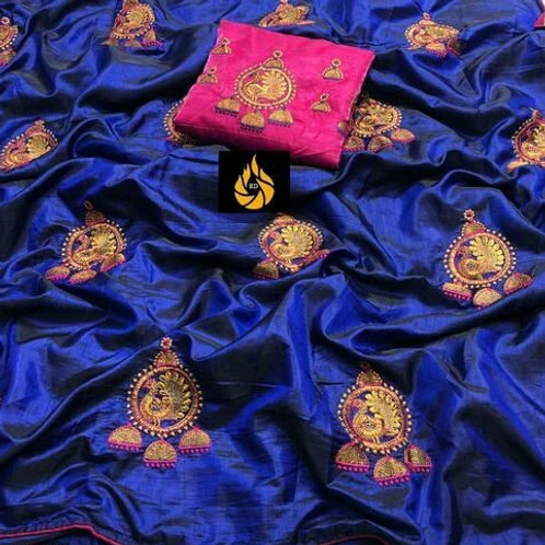 PS Two Tone Sana Silk Royal Blue