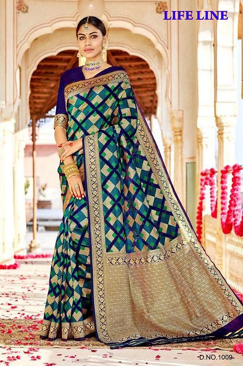 KFS Heavy Jari Weaving Silk Saree  01
