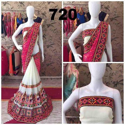 VRDS Bandhni Hathi Design Saree 01