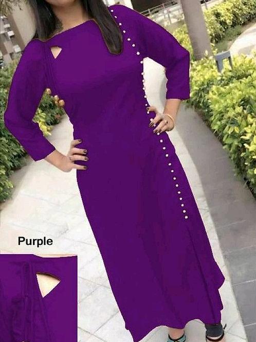 PB Modern Fancy Women Kurti Purple