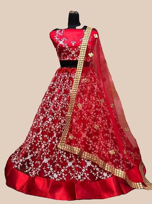 ANS Rency Heavy Net Threaded Embroidery Lehenga  01