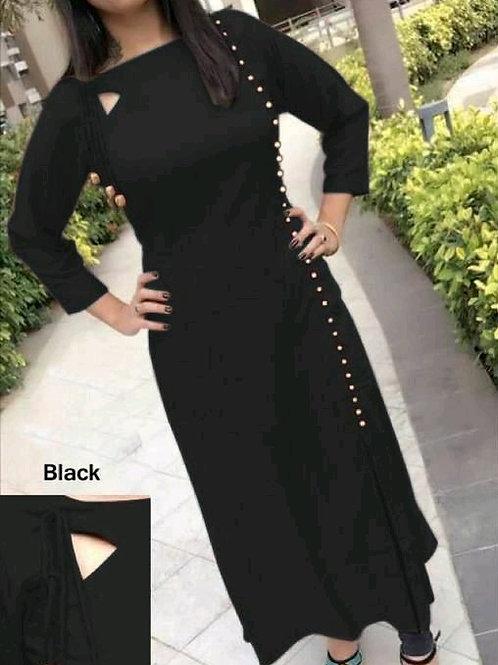 PB Modern Fancy Women Kurti Black