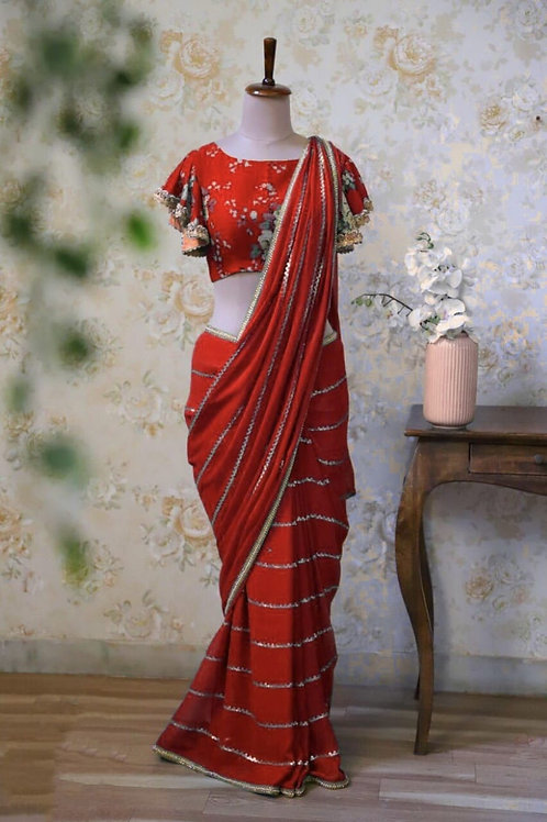 VRDS  Designer Georgette Sequence Work saree 01