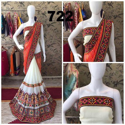 VRDS Bandhni Hathi Design Saree 02