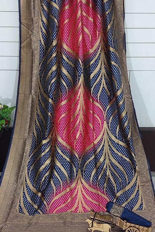 ATLS Bandhani Jacquard Silk Saree 02