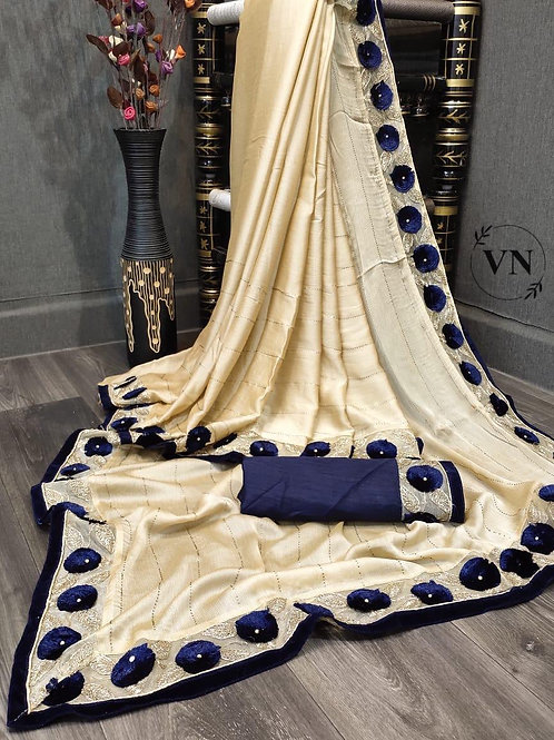 VRDS Ruby Line Embroidery Saree 03