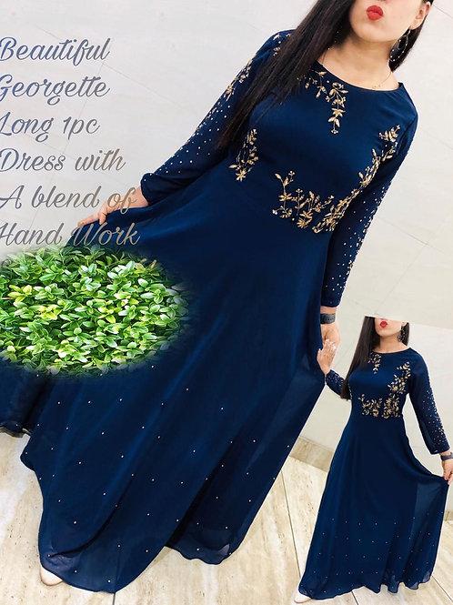 KFS Georgette Long Gown 04