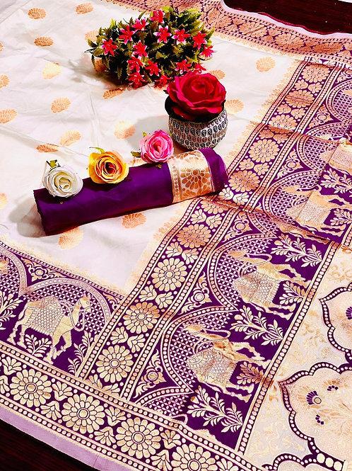KFS Rajasthani Silk Saree 04