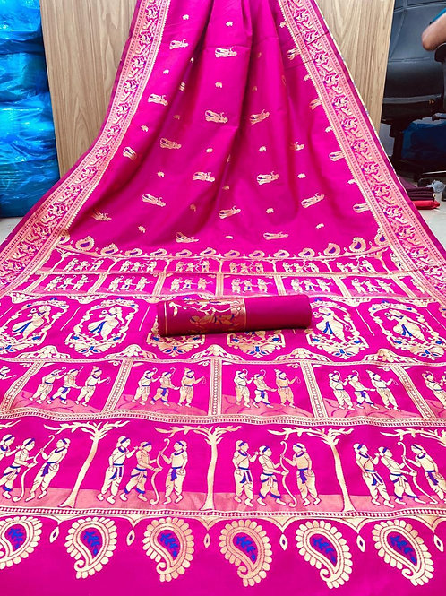 KFS  Embroidery Jacquard Saree 03