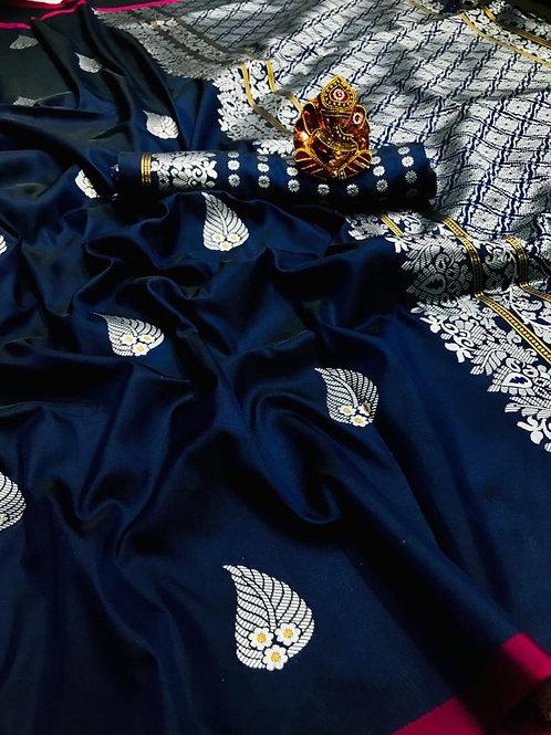 VRS ASO PAN Design Silk Saree 03