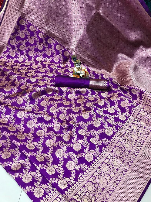 KFS Premium Banarasi Silk Saree 06