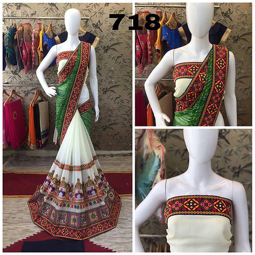 VRDS Bandhni Hathi Design Saree 03