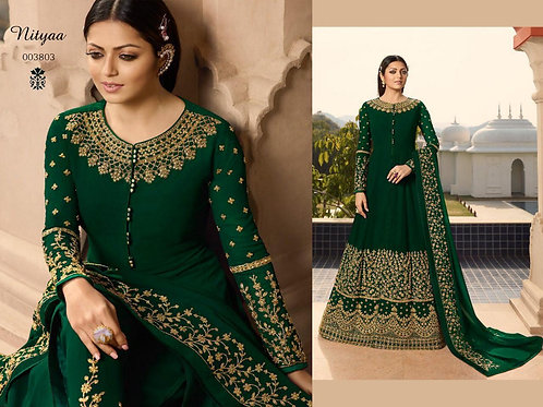 VRDS Fox Georgette Embroidery and Stone Work Gown 02