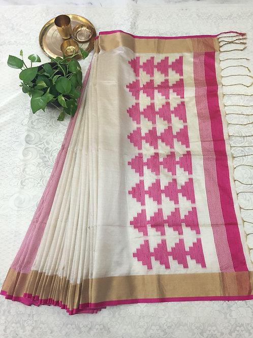 KFS Raw Khadi Cotton Saree 08