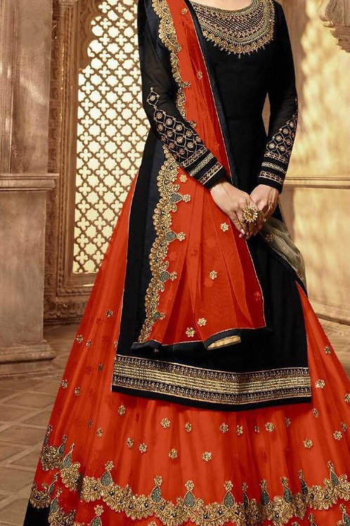 VRS Heavy Tapeta Embroidery work Lehenga 03