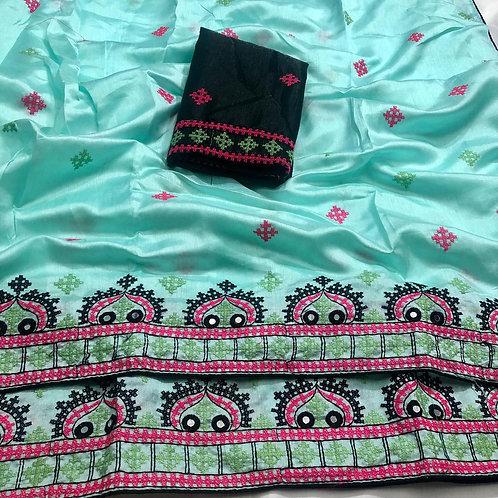 KFS Cross Stich Embroidery Joya Saree 01