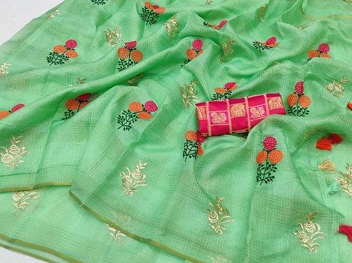 KFS Embroidery  Doria Saree 03