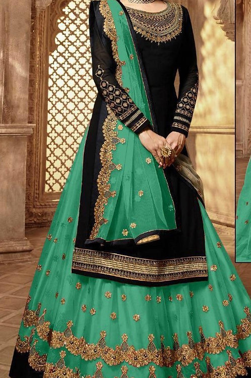 VRS Heavy Tapeta Embroidery work Lehenga 04