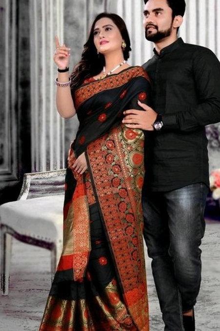PB Kashvi Fancy Men's Kurta & Sarees Combo 01