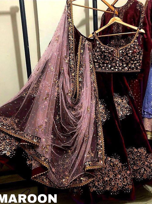 VRS Viscos velvet lehenga choli With Dupatta 01