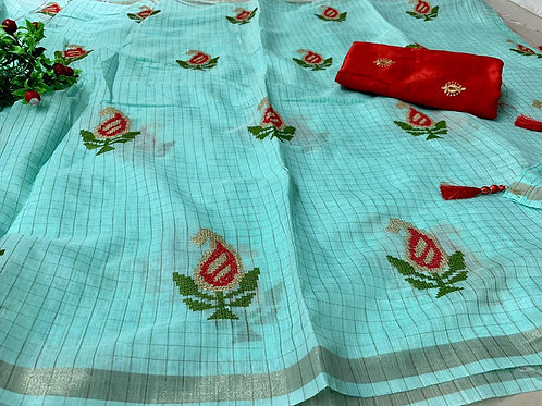 KFS Soft Linen saree 02