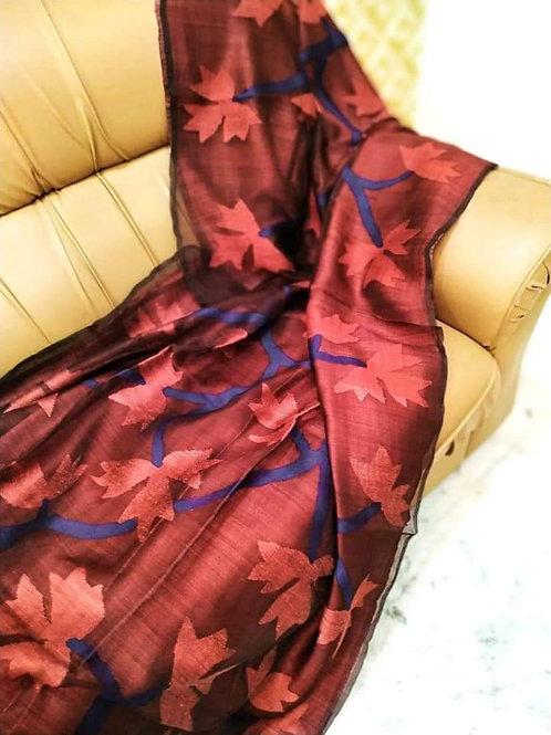 SH Classic Matka Muslin Jamdani Saree 10