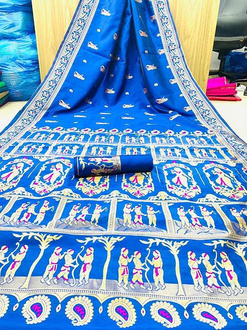 KFS  Embroidery Jacquard Saree 04