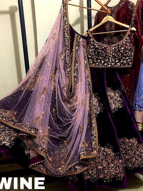 VRS Viscos velvet lehenga choli With Dupatta 04