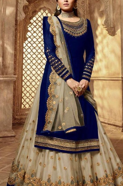 VRS Heavy Tapeta Embroidery work Lehenga 06