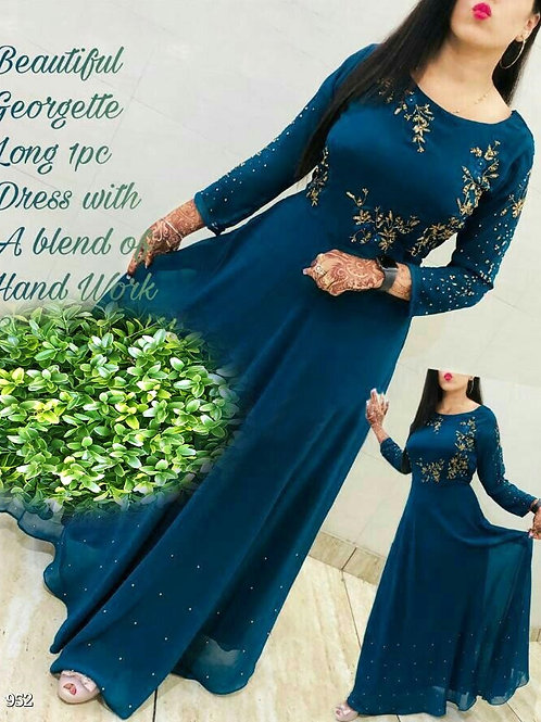 KFS Georgette Long Gown 08