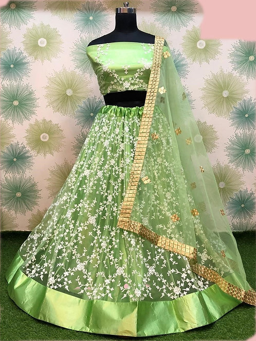 ANS Rency Heavy Net Threaded Embroidery Lehenga 02