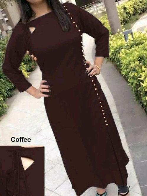 PB Modern Fancy Women Kurti  coffee