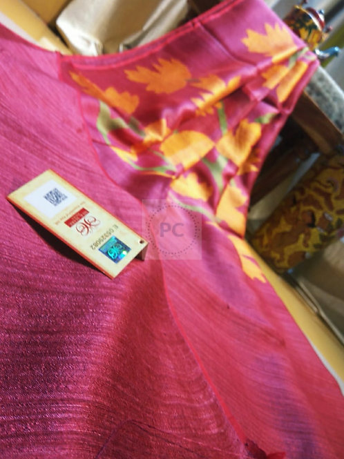 SH Classic Matka Muslin Jamdani Saree  05