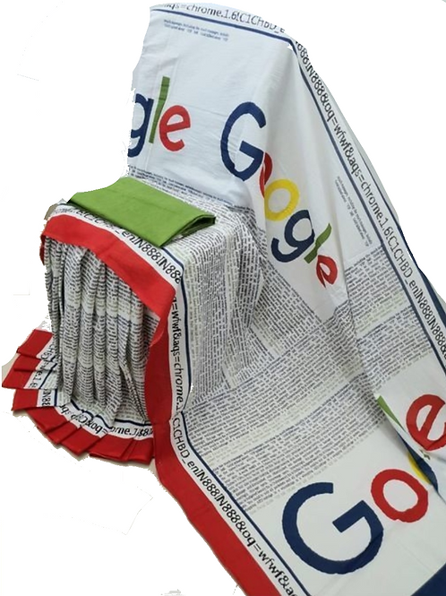 Google Print Multicolour Cotton Mulmul saree with Blouse Piece un stitched