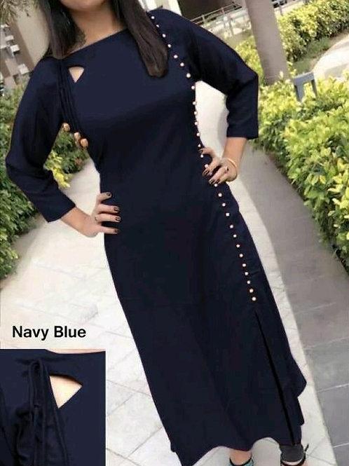 PB Modern Fancy Women Kurti Nevy Blue