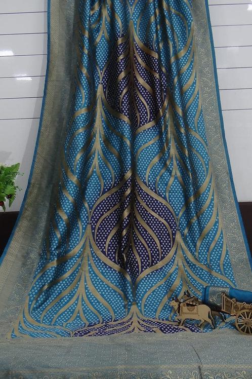 ATLS Bandhani Jacquard Silk Saree 04