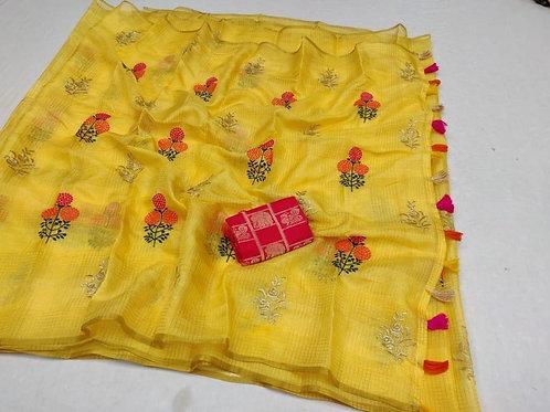KFS Embroidery  Doria Saree 04