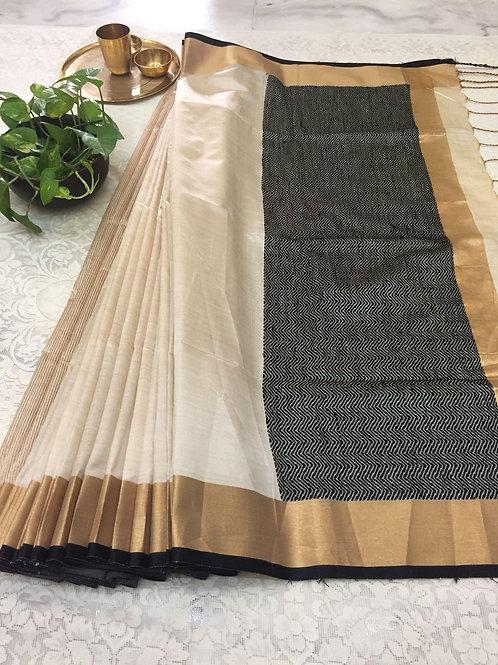 KFS Raw Khadi Cotton Saree 03