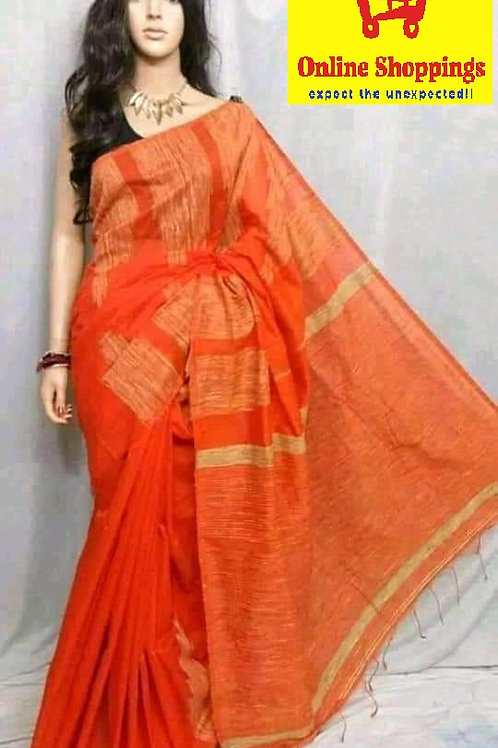 Temple Cotton Saree with BP