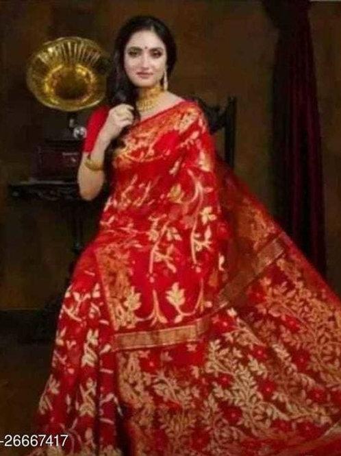 Refined Muslin Jamdani Saree