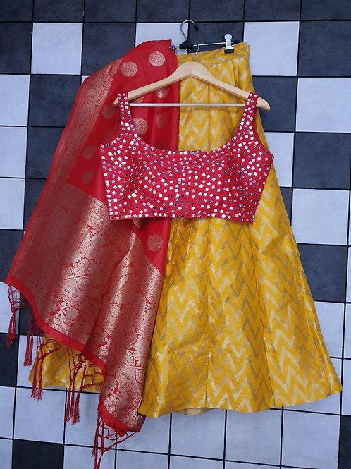 KFS Banarasi Brocade Lehenga 01