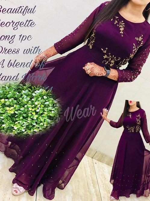 KFS Georgette Long Gown 03