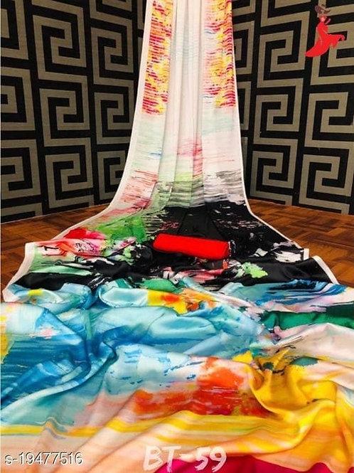 Digital Print Silk Saree
